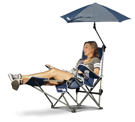 Reclining Chair With Umbrella by Recliner Chair Umbrella Sun Shade Cing Outdoor Patio