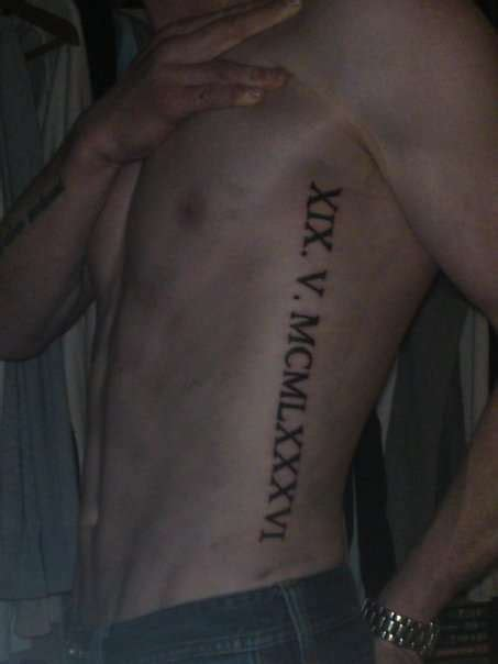 roman numeral tattoo on ribs 75 numerals tattoos