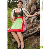 Pretty Woman In A Traditional Dirndl Stock Image