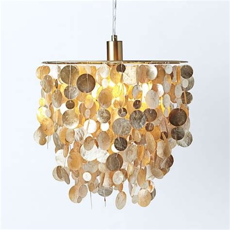 Gold Capiz Chandelier Capiz Pendant Gold West Elm