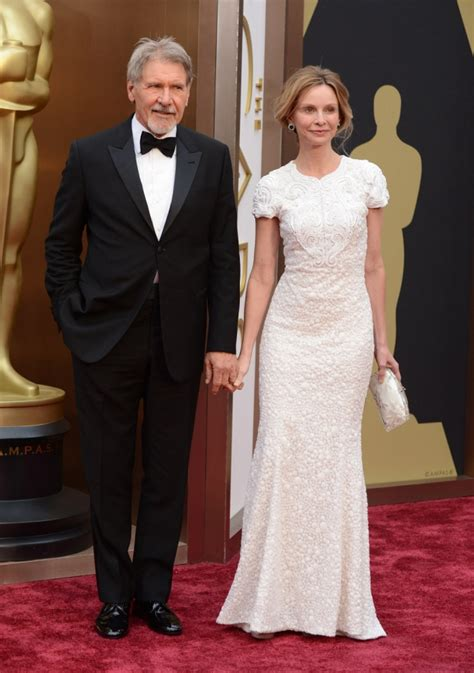Oscars Carpet Calista Flockhart by Harrison Ford Y Calista Flockhart En La Alfombra Roja De