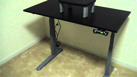 bell o adjustable height desk height adjustable computer desk youtube