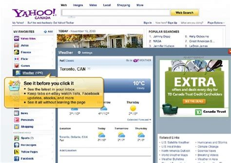 my yahoo homepage is showing the items i am on