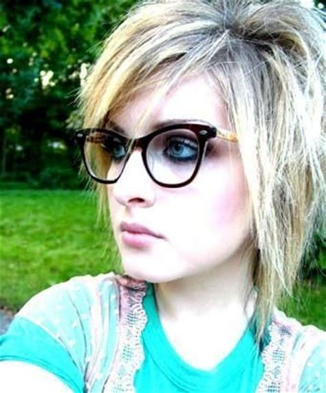 emo hairstyles with glasses 1000 images about hairstyles and glasses on pinterest