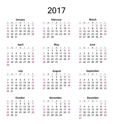 Calendã 2017 Feriados Em Excel 2017 Calendar Free Stock Photo Domain Pictures