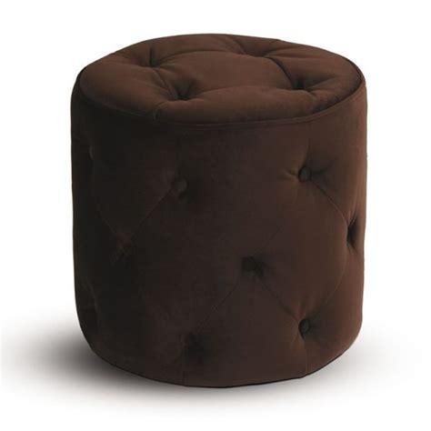 round brown ottoman retro contemporary round ottoman