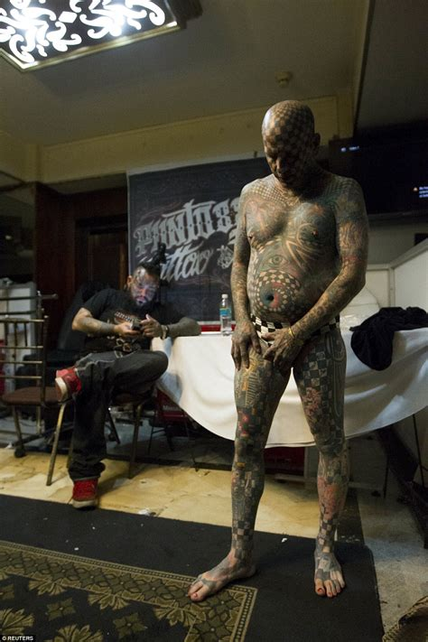 full body tattoo convention fans show off their horns and inkings at ecuador tattoo