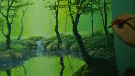 Acrylic Landscape Painting Tutorial The Forest