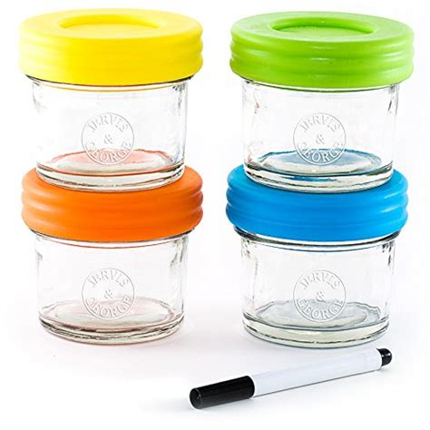glass baby food storage containers glass baby food storage containers set contains 4 small