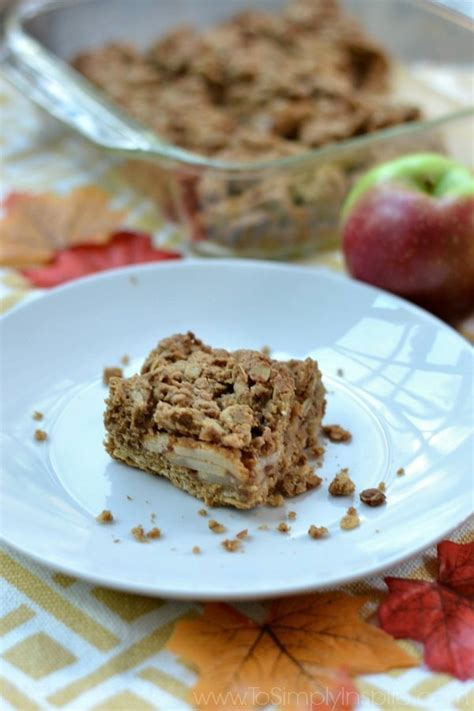 apple bars with oatmeal crumb topping apple oatmeal crumb bars to simply inspire