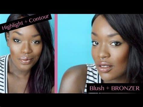 contouring for light brown skin best highlight contour blush tips for dark skin youtube