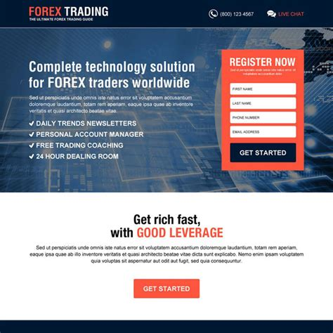 forex trading responsive landing page design templates for
