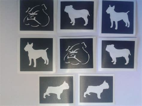Rugby Wall Stickers mixed bulldog dog stencils for etching on glass frenchie