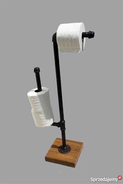 Diy Toilet Paper Holder uchwyt na papier toaletowy z rur stojak meble industrialne
