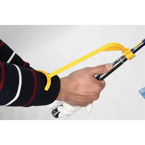 golf swing guide yellow golf swing trainer guide alignment angle wrist
