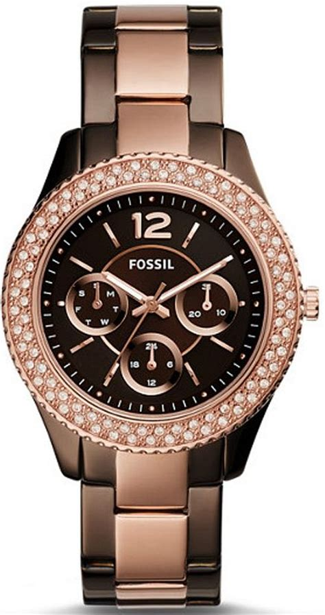 s fossil stella multifunction stainless steel