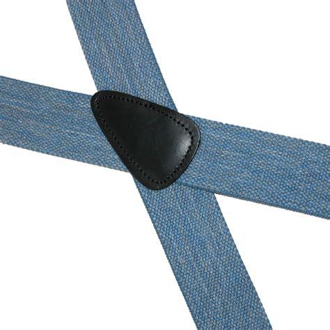Button 1 End mens elastic denim 1 1 2 inch button end suspenders by ctm