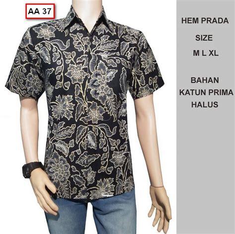 Kemeja Batik Tribal Pria Murah Lengan Pendek Baru Best Seller Casual koleksi gambar baju batik pria model terbaru tahun ini busanamuslimpria