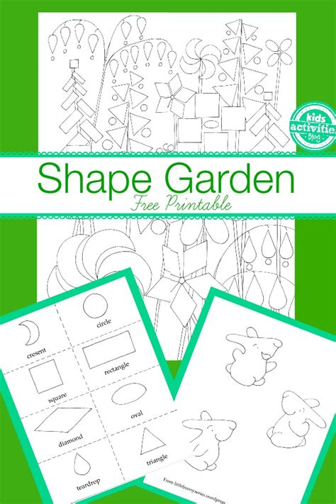 shape garden kids free activity printables