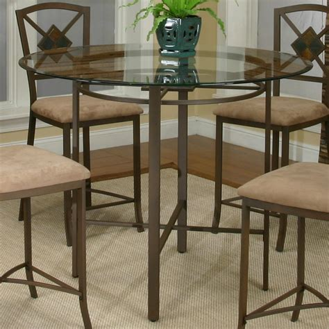 glass pub table set metal pub table w glass top by cramco inc wolf and