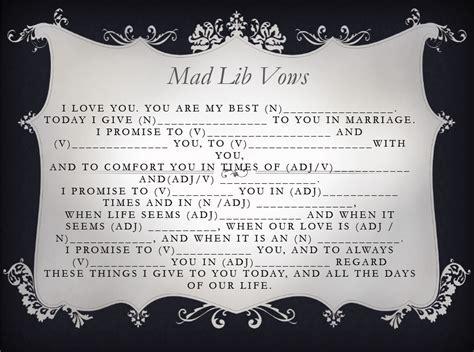 Ten Fun Wedding Mad Libs to Work Into Your Wedding