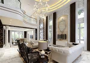 Villa Interior Design Outdoor View Of Luxury Door And Sculpture Design For Villa 3d House