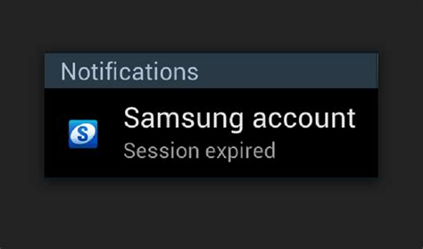fix samsung account session expired