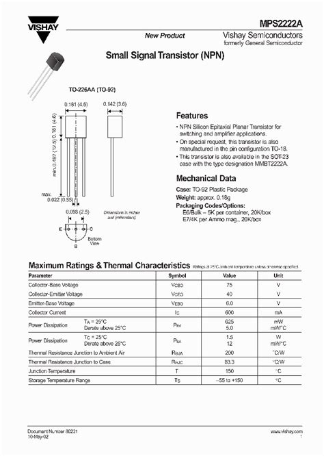 transistor mps2222a datasheet mps2222a 5930476 pdf datasheet ic on line