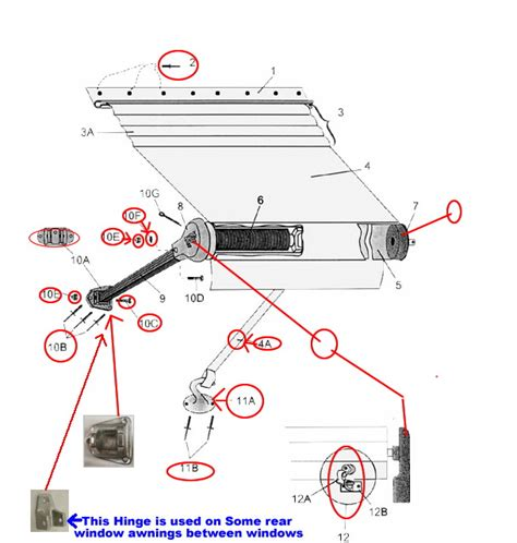 rv awning repair parts awning rv awning replacement parts