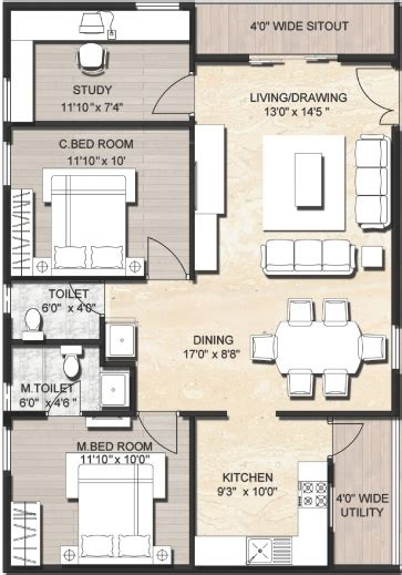 Home Plan Photo by Fantastic 100 House Plans India 25 40 House