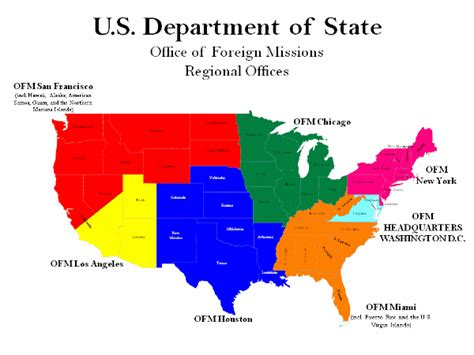 us map region division us department of state office of foreign missions