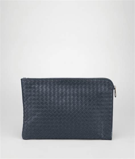 Pouch Bottega Veneta Document Intrecciato Vn Small Hitam So7462 bottega veneta 174 document in light tourmaline intrecciato vn