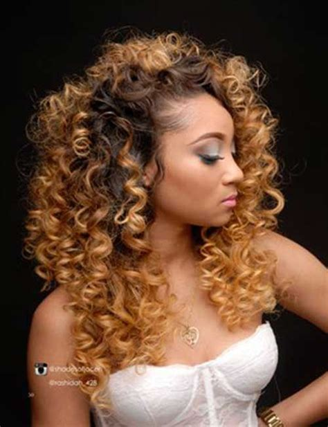Hairstyles For Hair With Weave by 1000 Ideas About Curly Weaves On Curly Weave