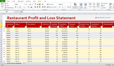 Restaurant Income Statement Template Excel by Restaurant Profit And Loss Statement Template Excel Kitchens Statement Template