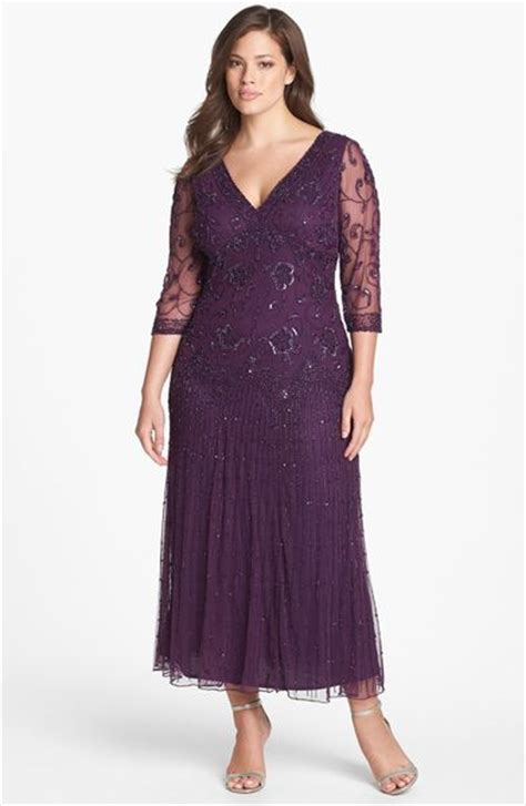 pisarro nights beaded mesh gown pisarro nights beaded mesh gown in purple plum lyst