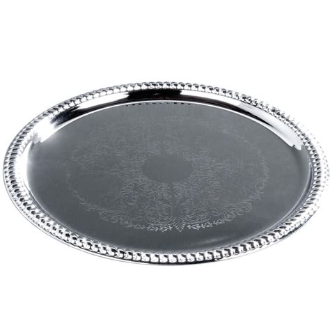 14 Quot Round Chrome Plated Buffet Catering Tray Aluminum Buffet Trays