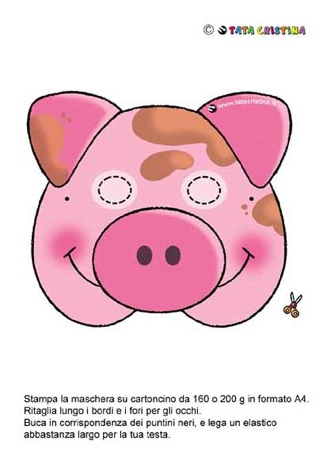 printable pig nose mask babe pig mask movie night pinterest discover more