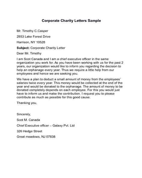 charity letter for age home corporate charity letter sle edit fill sign