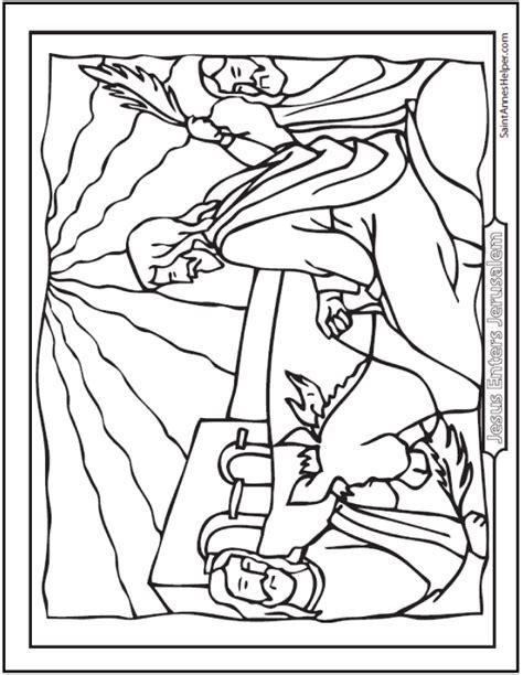 coloring pages jesus enters jerusalem palm sunday coloring pages jesus on the sunday before easter