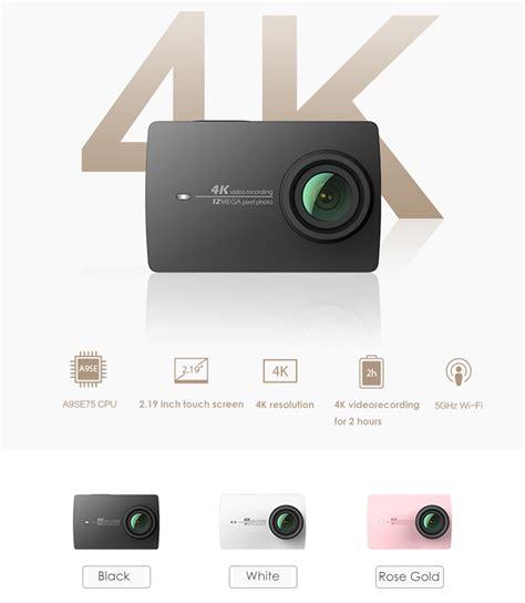Xiaomi Yi 2 Wifi 4k Lcd Display Kamera White xiaomi yi ii 4k 12mp sony sensor wifi lcd screen sports gold