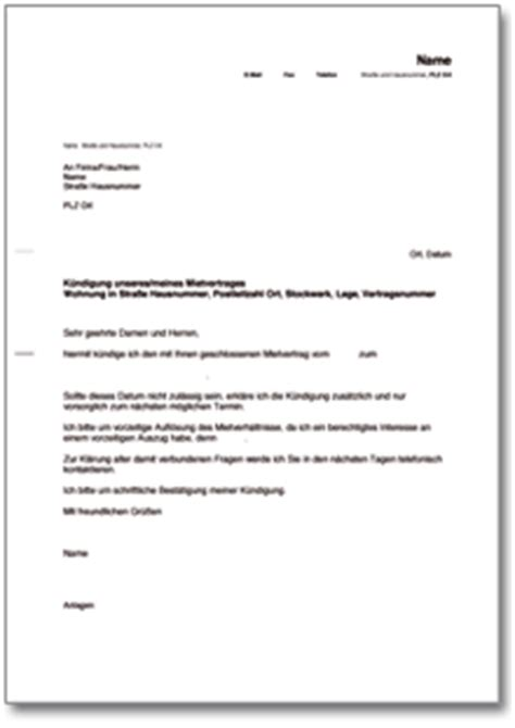 Wohnungskündigung Auf Eigenbedarf Muster Dehoga Shop K 252 Ndigung Mietvertrag Mit Bitte Um Vorzeitige Entlassung Kaufen