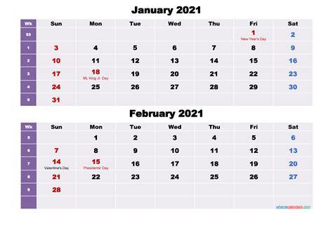january  february  calendar  holidays