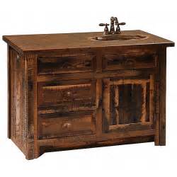 rustic aspen log bathroom vanity 36 inch reclaimed