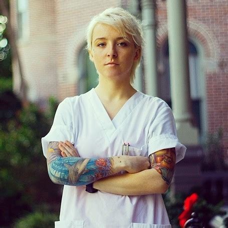nurses with tattoos tattooed tattooed with sleeve