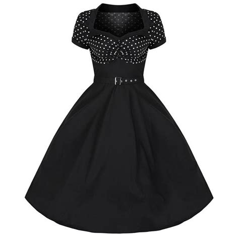50s swing dress uk black and white polka dot top rockabilly 50s swing dress