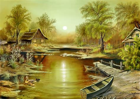 Nature Paintings by ا مید صبح Amazing Paintings