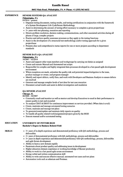 Quality Analyst Description by Data Qa Analyst Description Resumes Free Best Resume Templates
