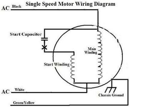 single phase capacitor run motor wiring diagram ac induction motor wiring diagram ac free engine image for user manual