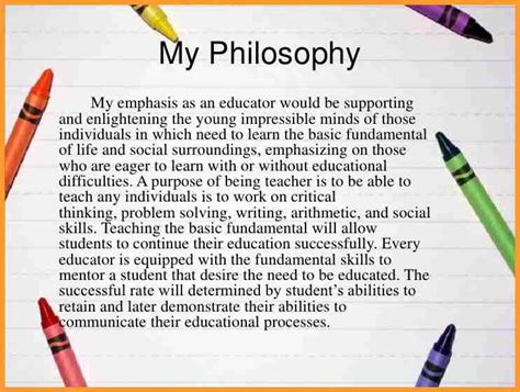 teaching philosophy template elementary teaching philosophy exles letter format mail
