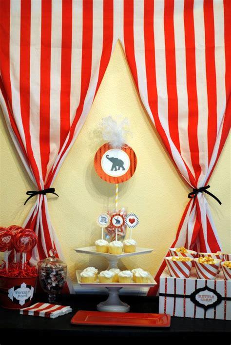 circus tent curtains circus birthday theme party ideas pinterest